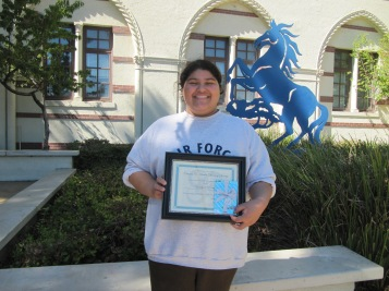 Octavia Essay Winner, Yendrick Parros